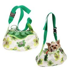 Fantastic fabrick sling Fabric can be washed at 30 degrees. For dogs up to Dog Carrier, Fashion Boutique, American Girl, 30 Degrees, Dog Fashion, Green, Dogs, Couture, Products