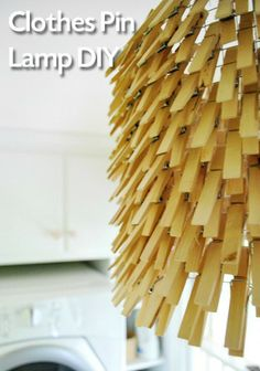 Clothespin Hanging Light - Lighting DIY