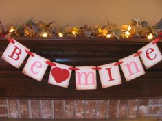 Valentine Banner Be Mine Red and Pink by inspirationalbanners, $16.00