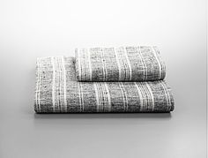 Thin-Stripe Linen Bath Towels by Calvin Klein Home Linen Towels, Bath Towels, Window In Shower, Calvin Klein Collection, Bath Linens, Grey And White, Gray, Striped Linen, Sophisticated Style