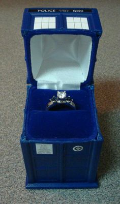 Doctor Who TARDIS Engagement Ring Box on Global Geek News.