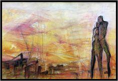 "Aquarell ""Sunken City of Kitesch"" ca 46 x 32 cm Sunken City, Painting, Art, Watercolor Painting, Glow Paint, Vibrant Colors, Abstract Art, Idea Paint, Art Production"