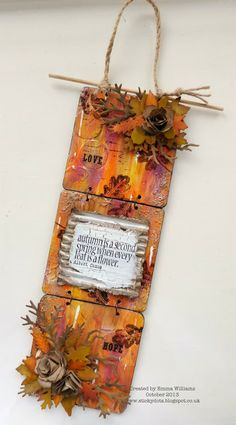 The Artistic Stamper Creative Team Blog: Autumnal Gatherings Altered Coasters featuring a Tim Holtz Autumnal Gatherings die by Sizzix