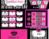 Sugar and Spice INVITATION - Sweet Shop- Candy Party- Sweet Shoppe - Cupcake -Candyland- Girls Birthday  -  Krown Kreations. $5.00, via Etsy.