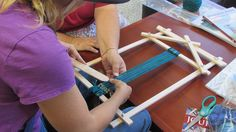 Our yarn is good for weaving on a little loom like this one!
