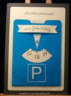 Karte Geburtstag 18 Parkscheibe stampin stemplehex