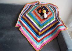 "BABY BLANKET // 32"" x 32"" Geometric Crochet Baby Blanket, Afghan,stroller / travel  size i... $75"