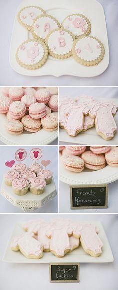 doces cha de bebe rosa