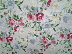 Tessuto in puro lino, stampato,  h . 150