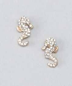 Take a look at this Top It Off Gold Seahorse Earrings by Summer Accessories Collection on #zulily today!