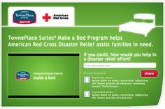 """Marriott - TownePlace Suites was looking to drive consumers to their Facebook app where each consumer could """"make a bed"""" to trigger a donation to the American Red Cross. Donations were arriving slowly and SocialVibe was added to the last 2 weeks of the campaign. In those 2 weeks, TownePlace Suites successfully hit their donation goal."""
