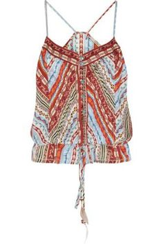 Embroidered silk-crepe camisole #top #women #covetme #etro