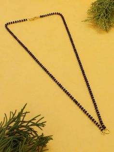 This Charming Simple Mangalsutra Necklace Is Neat And Simple For Those Who Wish For Light Jewelry Collection. Match This Jewelry With Any Of Your Outfit And Flaunt Your Style 1 Gram Gold Jewellery, Temple Jewellery, Gold Jewelry, Fashion Jewelry Stores, Fashion Jewellery, Golden Color, Ethnic Jewelry, Jewelry Collection, Plating