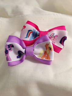 My Little Pony Friendship is Magic Hair Bow by 2Marys on Etsy, $2.00