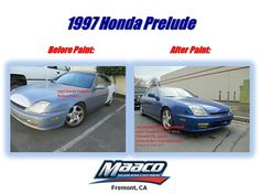 Before & After 1997 Honda Prelude! Come by today for a free written estimate! 44201 S., Fremont, CA 94538