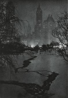 The White Night	  Fassbender, Adolph, b.1884-1980  Pictorial Artistry, 1937  19.4 x 20 cm  Photogravure