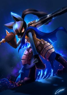 Lucario Artorias by CKibe - Pokemon - Anime Pokemon Backgrounds, Cool Pokemon Wallpapers, Cute Pokemon Wallpaper, Animes Wallpapers, Pokemon Kalos, Lucario Pokemon, Pikachu Drawing, Pikachu Art, Pokemon Fusion Art