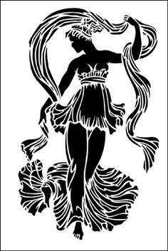 Aphrodite stencil from The Stencil Library GENERAL range. Stencil Templates, Stencil Patterns, Stencil Painting, Stencil Designs, Stencils Online, African Art Paintings, Ancient Greek Art, Large Stencils, Paper Bead Jewelry