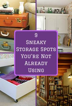 When you live in a small space, you need to get creative about your storage solutions. Sneaky ideas like this can come in handy.