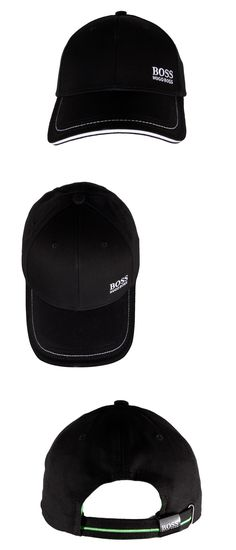 Hats 52365: Hugo Boss Men S Premium Adjustable Sport Cotton Cap 1 Logo Hat Black 50245070 -> BUY IT NOW ONLY: $39.95 on eBay!