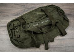 Gant Rugger Green Waxed Canvas Duffel Bag #Gant