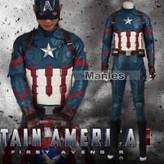 Captain America 3 Civil War Cosplay Costume Outfit Steven Rogers Cosplay Adult Superhero Halloween Party Custom Made Adult High Quality Halloween Costumes, Baby Halloween Costumes, Halloween Cosplay, Halloween Outfits, Superhero Halloween, Halloween Men, Halloween Party, Cheap Halloween, Captain America Series