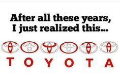 It's not true.... There are three ellipses resembles heart of customer, heart of the company and heart of the technology used in that company.... Source: Toyota official website