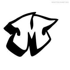 Graffiti Graffonti Alphabet M