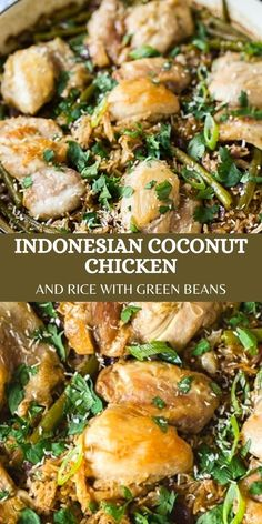 This recipe for coconut chicken and rice with green beans is a busy midweek dinner saver! You should make it!