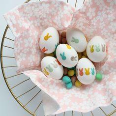 DIY Bunny Tattoo Easter Eggs