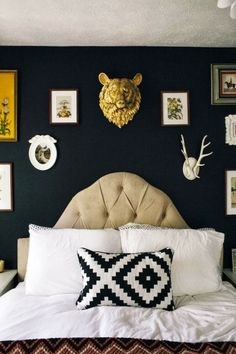 The Best DIY and Decor: Black Bedroom