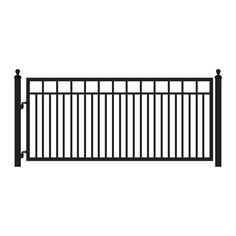 Mighty Mule Sanibel 12 ft. x 4 ft. 8 in. Powder Coated Steel Single Driveway Gate-G1612-KIT at The Home Depot