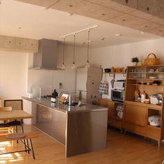sisko_tomokaさんの、IGやってます,IKEA,食器,カフェ風,北欧,ナチュラル,marimekko,unico,ウニコ,ステンレスキッチン,アイランドキッチン,キッチン,のお部屋写真