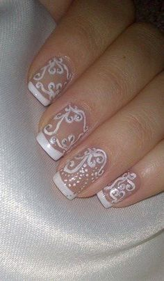 Henna Lace French Manicure