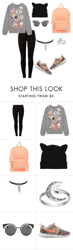 """""""Untitled #40"""" by mira-163 ❤ liked on Polyvore featuring Dorothy Perkins, Christopher Kane, Herschel Supply Co., Primrose and NIKE"""