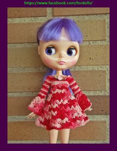 Kawaii Doll, Blythe Dolls, Fashion Dolls, Disney Characters, Fictional Characters, Disney Princess, Etsy, Dresses, Ideas