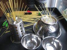 Playdough.....pasta.....pots......child-led learning. | Pre-school Play