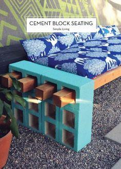 05May2015 Awesome DIY Inspiration: DIY Cement Block Bench categories: DIY inspiration