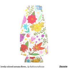 lovely colored autumn flowers bottle cooler