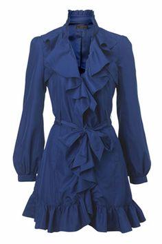New Look Long Ruffle Coat