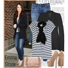 """Celebrity Style: Emma Stone"" by jewelss2 on Polyvore"