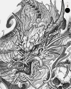 Dragon Tattoo Colour, Dragon Tattoo Art, Asian Dragon Tattoo, Dragon Sleeve Tattoos, Japanese Dragon Tattoos, Dragon Tattoo Designs, Japanese Tattoo Symbols, Japanese Tattoo Designs, Japanese Tattoo Art