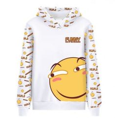 Cartoon emoji hoodie funny king of the expression hooded sweatshirts for teens