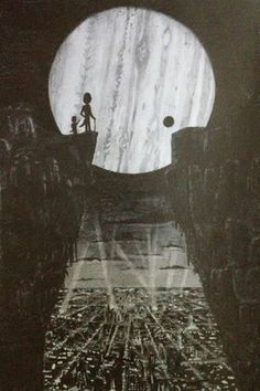 A new drawing I just finished done in greylead pencils. It is a picture of two aliens overlooking a city at night. In the sky is a large majestic gas giant planet.