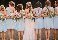 Bride & Bridesmaids   Danielle Capito Photography   From: Blog.TheKnot.com