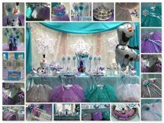 Frozen Princess Birthday Party to Go Box. Frozen Party Tutus, Tiaras, Snowflake Wands, Frozen Party Craft, Frozen Party Games and Activities Guide.