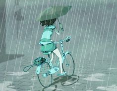 Rainy bike ride ✤ || CHARACTER DESIGN REFERENCES | キャラクターデザイン • Find more at https://www.facebook.com/CharacterDesignReferences if you're looking for: #lineart #art #character #design #illustration #expressions #best #animation #drawing #archive #library #reference #anatomy #traditional #sketch #development #artist #pose #settei #gestures #how #to #tutorial #comics #conceptart #modelsheet #cartoon || ✤