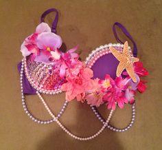 Rhinestoned mermaid rave bra by ExoticDaisy on Etsy, $58.00