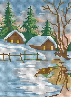 Free Oriental Cross Stitch Patterns of landscapes | Free Embroidery Designs Free…