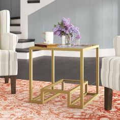 Imel End Table Table Base Color: Silver Silver Table, Gold Table, Black Table, End Tables With Storage, Coffee Table With Storage, Le Hangar, Etagere Bookcase, Glass Top Coffee Table, Table Lamp Sets